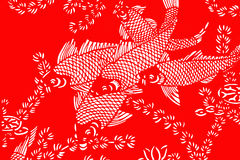 Red and white fish background Royalty Free Stock Image