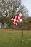 Red and white flag Stock Photo
