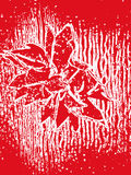 Red white floral abstract composition Royalty Free Stock Photo