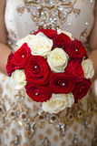 Red white floral bouquet Royalty Free Stock Photography