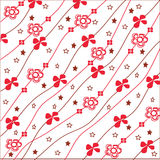 Red and white floral pattern Royalty Free Stock Image