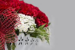 Red and White Flower Arrangement for Valentine Stock Image
