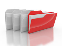 Red and white folders Stock Images