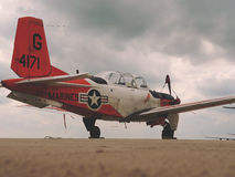 Red and White G 4171 Marines Plane Stock Image