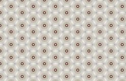 Red White Geometric Hexagon Pattern Design royalty free illustration