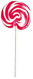 Red and white giant kids childs lollipop lolly pop. A red and white giant kids childs lollipop lolly pop on a white background royalty free stock photography