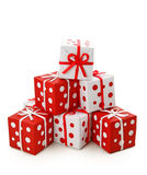 Red and white gift boxes Royalty Free Stock Photo