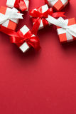 Red and white gift boxes Stock Photo