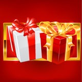 Red and white gift vector. Royalty Free Stock Photos