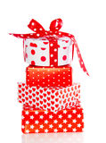 Red and white gifts Royalty Free Stock Photography