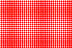 Red and white gingham. Tablecloth texture Stock Image