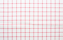 Red and white gingham cloth background Stock Photography