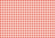 Red and white gingham pattern. Texture from rhombu. S/squares for - plaid, clothes, shirts, dresses, paper, bedding, blankets, quilts and other textile products vector illustration