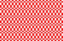 Red and white Gingham pattern.Texture from rhombus for - plaid,tablecloths,clothes,shirts, dresses,paper,bedding,blankets,quilts. And other textile products vector illustration