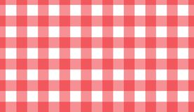 Red and white gingham seamless pattern. Texture from rhombus/squares for -. Plaid, clothes, shirts, dresses, paper, bedding, blankets, quilts and other textile royalty free illustration