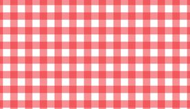 Red and white gingham seamless pattern. Texture from rhombus/squares for -. Plaid, clothes, shirts, dresses, paper, bedding, blankets, quilts and other textile vector illustration