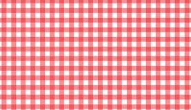 Red and white gingham seamless pattern. Texture from rhombus/squares for -. Plaid, clothes, shirts, dresses, paper, bedding, blankets, quilts and other textile stock illustration
