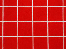 Red and White Gingham Tablecloth Pattern Stock Photos