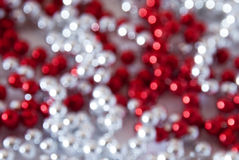 Red and white glittery blur background Royalty Free Stock Photos