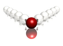 Red and white glossy spheres on white background Stock Images