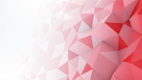 Red white gradient polygonal surface abstract 3D render. Red white gradient polygonal surface. Computer generated abstract background. 3D rendering Stock Photo