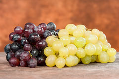 Red and white grape. Wet red and white grape Royalty Free Stock Image