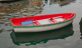 Red White and Green fishing boat Royalty Free Stock Photography