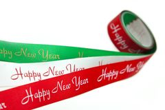 Red/White/Green ribbon Royalty Free Stock Photo