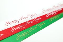 Red/White/Green ribbon Stock Image