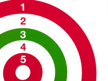 Red white and green shooting target detail Stock Images