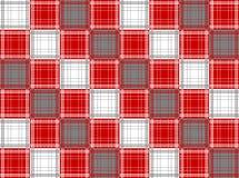 Red white grey plaid Stock Photos
