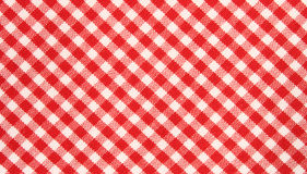 Red/white grid cloth pattern Royalty Free Stock Images