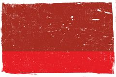 Red And White Grunge. Distressed Red Texture with white borders for your design, horizontal orientation. EPS10 vector Stock Image