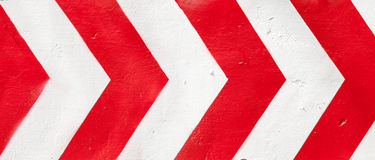 Red and white grunge warning stripes background Royalty Free Stock Image