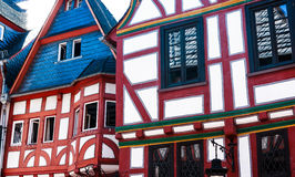 Red and white half-timbered houses in Limburg an der Lahn, Germany Stock Images