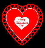 Red and White Happy Valentine\\\'s Day Royalty Free Stock Images