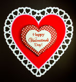Red and White Happy Valentine's Day Hearts Stock Photo