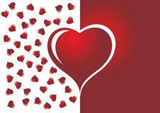 Red and white heart Royalty Free Stock Images