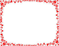 Red and White Heart Border Stock Image