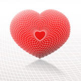 Red and white heart. Graphic abstract background with graphical red and white heart Stock Image