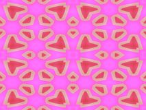 Red white heart on pink backgrounds. And geometric figures royalty free illustration