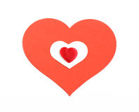Red and white hearts Royalty Free Stock Photos