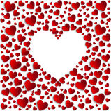 Red white hearts Royalty Free Stock Photos