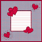 Red and white hearts background Stock Photo