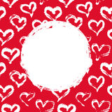 Red and white hearts card Stock Image