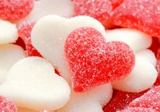 Red and white hearts for Valentine's Day Royalty Free Stock Images