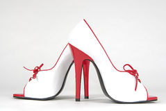 Red & White Heels Stock Images