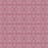 Red and White Hexagon Tiles Pattern Repeat Background Royalty Free Stock Images