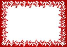 Red White Holly Leaf Frame or Border Royalty Free Stock Photography