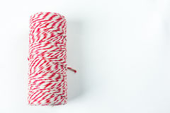 Red and white horizontal rope Stock Images